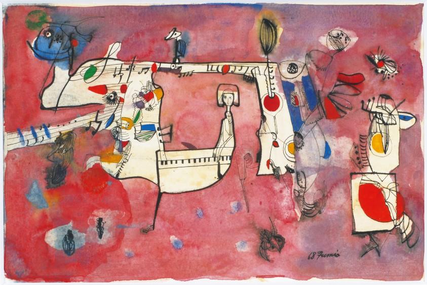 美術家の青春 ― ここから、絵が生まれる  特集展示「色と線・難波田史男」