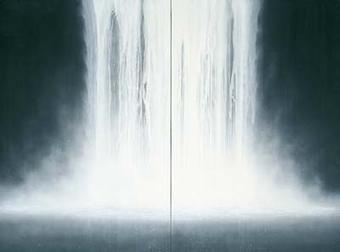 千住博 「WATERFALL」の画像